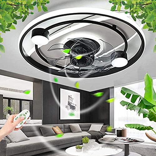 Ventilador De Techo Con Iluminación Luz De Techo LED Moderno Regulable Con Control Remoto Viento/Fuente Fan Ajustable Lámpara De Techo Ventilador Silencioso Candelabro Habitación Dormitorio Sala