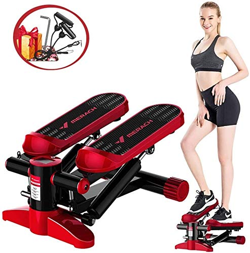 Find Bargain suge Aerobic Fitness Steppers with Resistance Bands and LCD Monitor, Hydraulic Boost Fi...