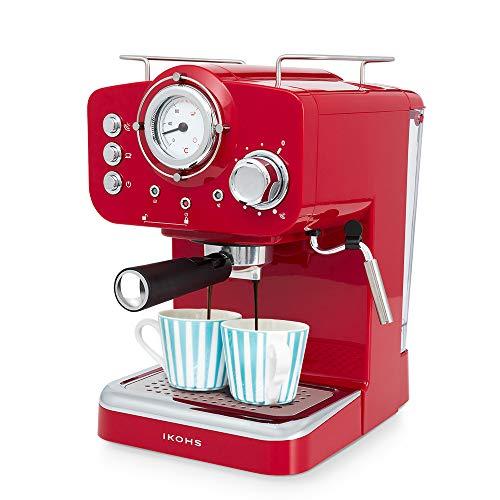 IKOHS THERA Retro - Cafetera Express para Espresso y Cappucino, 1100W,...