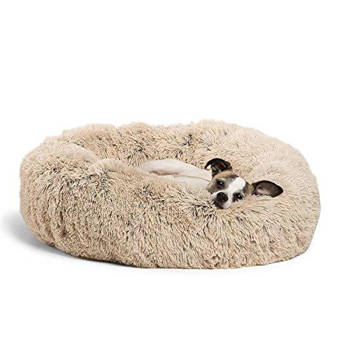 Roebii Haustier Hund Katze Wärme Bett, Donut Cuddler Katzenbett Warme Plüsch Hundewelpen Matte Haustierbetten Katzenkissen Bett Verbesserter Schlaf Für Hunde Und Katzen
