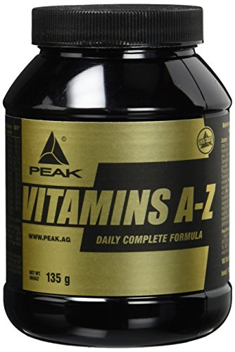 Peak VITAMINS A-Z - 180 Tabletten á 750 mg - (Net wt. 135g) + Tablettendose