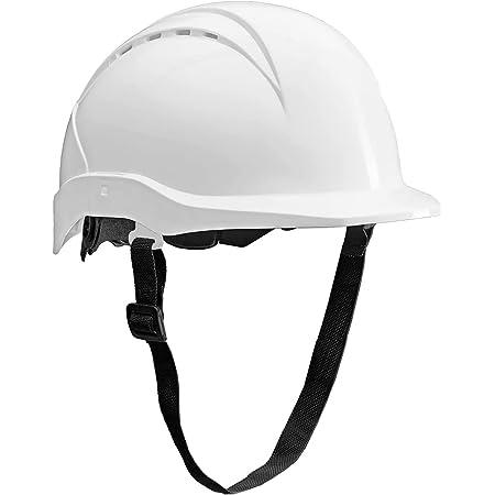 ACE Patera Casco da Lavoro - Elmetto da Lavoro - Protezione Testa - con chiusura a vite, ventilato e regolabile - Bianco