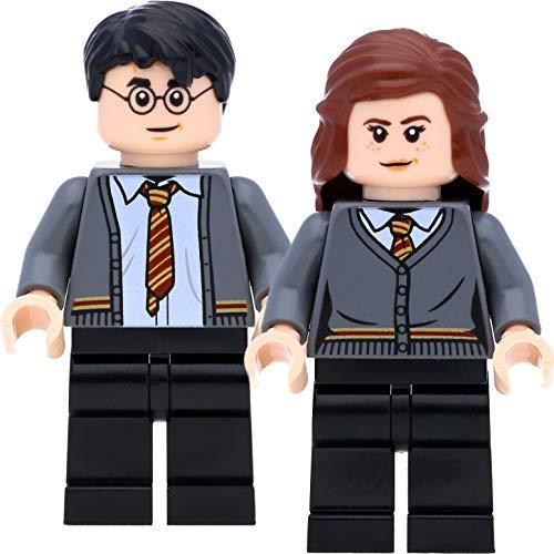 LEGO Minifiguras de Harry Potter y Hermione Granger en el cárdigan Gryffindor para adultos