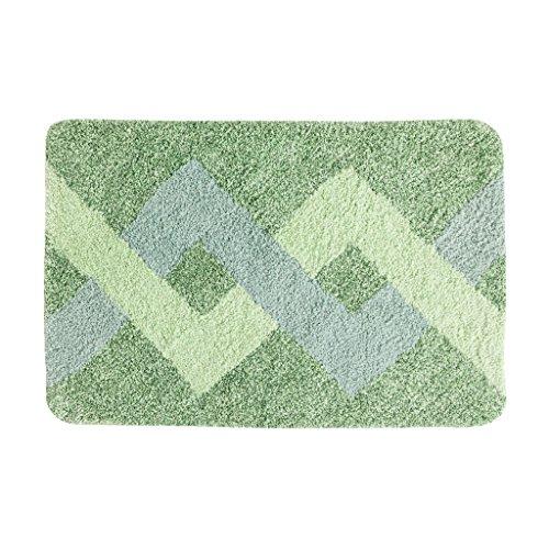 J&X Estera Suave Antideslizante Estera Absorbente del Lavabo Alfombra de baño Simple Tapete de Lavado a máquina de Felpudo Nuevo y Fresco (Color : B, Size : 50 * 80CM)