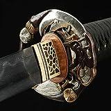LF Sword Handmade Gilt Guan Yu Tsuba Real Katana Japanese Samurai Swords