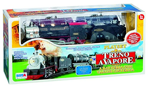 RSTA 8709 - Treno a Vapore, a Batteria, Circuito 390 cm