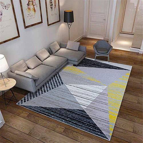 Kunsen Alfombras De Exterior Alfombra de salón geométrica Creativa de Lujo. alfombras Salon Cómodo Alfombra de Sala de Estar Alfombra Antideslizante Lavable fácil de cuidar habitación barat160x230CM