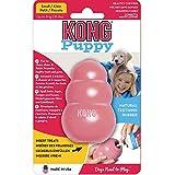 KONG - Puppy - Juguete de Caucho Natural para dentición (Colores Pueden Variar) - para Cachorros Pequeños