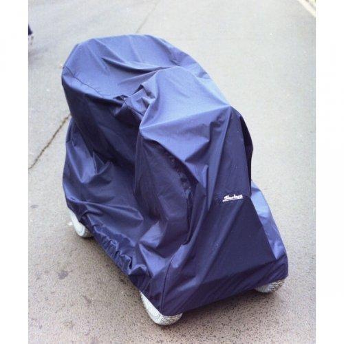 Universal-Abdeckung für Rollstühle Scooter in blau (147cm lang, 70cm breit, 104cm hoch)