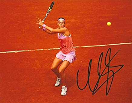 FRENCH TENNIS PLAYER Caroline Garcia autograph, In-Person signed photo