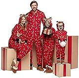 Christmas Family Pajamas Matching Sets Baby Kids Adults Women Men Pjs Sleepwear Homewear Outfits (C-Red Deer Reindeer Moose Elk Onesie, Baby/12-18Months)