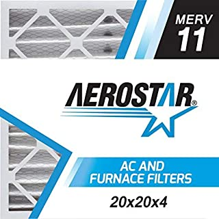 Aerostar 20x20x4 MERV 11 Pleated Air Filter, Made in the USA 19 1/2