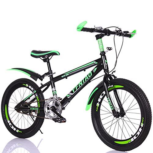 Bicicletas Para Niños De 18/20/22 Pulgadas Bicicletas Para Niños Y Niñas De Una Velocidad Bicicleta De Montaña Para Niños Deportes Ciclismo Al Aire Libre Para Niños De 6 A 13 Años Con Soporte,20'