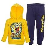 Spongebob Squarepants Toddler Boys Jogger Hoodie & Pants Set Yellow 3T