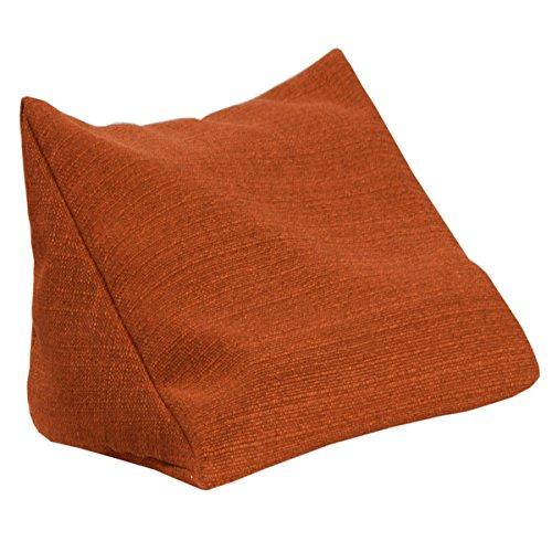 Lesekissen Keila, Rückenkissen Stallion, Keilkissen, Nackenkissen, Nackenstütze optimal als Fernsehkissen Schaumstoffflocken (orange)