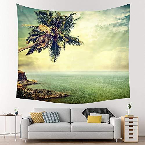 KHKJ Manta de Tapiz para Colgar en la Pared de la Playa Decoración Boho Decoración del hogar Sábanas de Dormitorio Estera de Yoga Decoración Mural Hippie A2 200x150cm