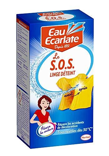 Eau Ecarlate SOS Linge Déteint - Lote de 2 reparadores para ropa desteñida, bote de 200g