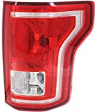 Tail Light Assembly Compatible with 2015-2017 Ford F-150 Halogen All Cab Types - CAPA, Pas...