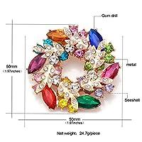 様々な色でレディー・ガールズ、1095マルチカラーの美しいクリスタルのラインストーンガーランド花のブローチピン
