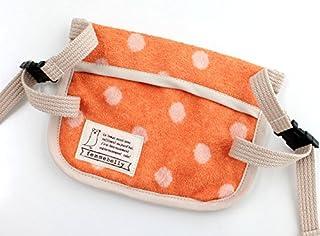 ファムベリー 保冷パッド 暑い夏のおんぶや抱っこをひんやり涼しく (ドットオレンジ)