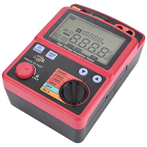 Digital Insulation Resistance Multimeter Tester 5KV 0.0MΩ-1000GΩ GM3125 High-Voltage Megohmmeter Automatic Calculate Continuity Test DC/AC Voltage
