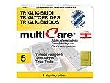 Multicare - Tiras de test para triglicéridos, 5piezas, 1Chip