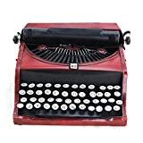 HKDJ-Vintage Nostalgia Portable Manual Typewriter Model,Vintage Iron Crafts,Desktop Home Decoration,312712CM