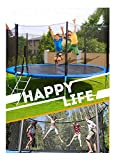 Fowoukior 12 FT Kids Trampoline Outdoor Trampoline with Enclosure Net Jumping Mat and Spring Cover Padding (As Shown, 1Set)