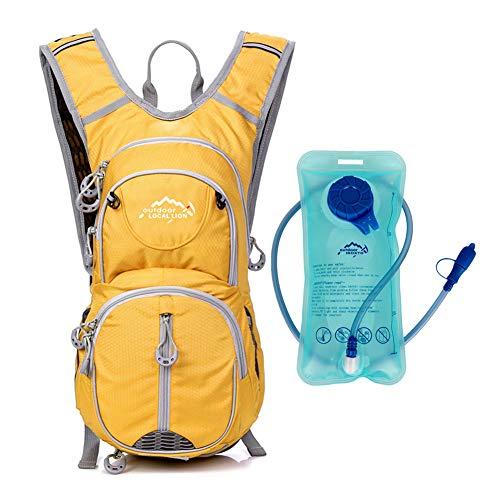 BenU Hiking Daypacks Cycling Rucksack Water Resistant 12L Capacity Bike Hydration Backpack Yellow