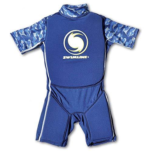 Swimline 9893B Lycra Boy's Floating Swim Trainer Wet Suit Life Vest Medium, Blue
