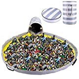 XX-Large Toy Storage Organizers Bag with Play Mat,Outdoor Toy Quick Storage Bins,Toy Bin with Play Mat for Baby/Kids/Toddlers Room Classroom Toy Cleaning Set,13in Diameter, 21.6in Height¡­