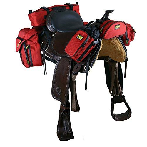 Trailmax 500 Komplettset Rot Satteltasche Western Packtasche Packsystem