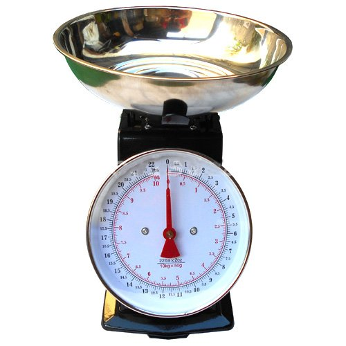 Simply Silver - 22lb Platform Scale Dial Kitchen Home Scale Stainless Steel Bowl Produce Food
