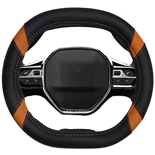 Mayco Bell Microfiber Leather Car Steering Wheel Cover Fit for Peugeot 3008...