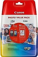 Canon PG-540XL+CL-541XL Cartuchos de tinta BK+Tricolor XL para Impresora de Inyeccion Pixma...