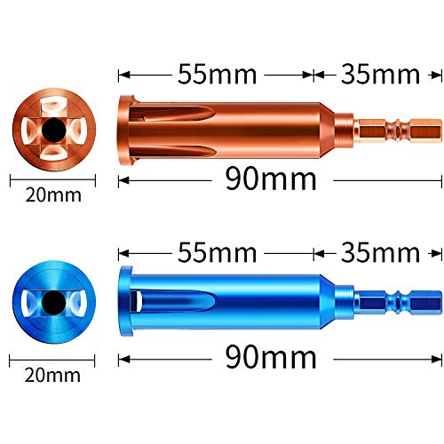 Wire Twisting Tools, Wire Stripper and Twister, Wire Terminals Power Tools for Stripping and Twisting Wire Cable (4, Blue and Orange)