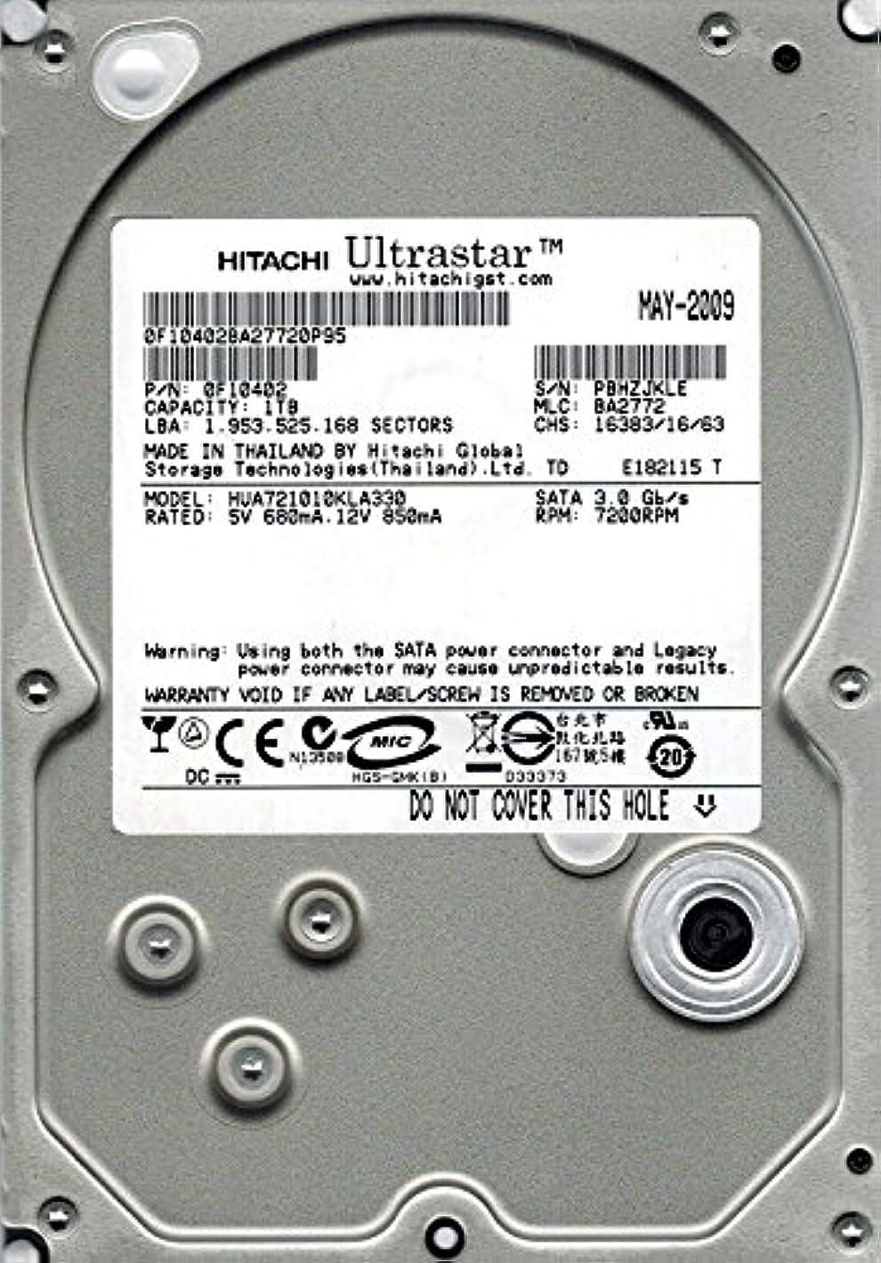 インストール教科書債務Hitachi hua721010kla330?P/N : 0?F10402?MLC : ba2772?1tb