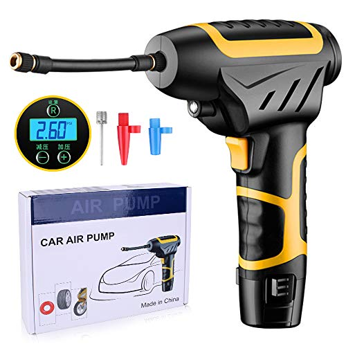 Car Pump for Tires Car Tire Air Pump Wired Digital Handheld Inflatable Pump with LED Air Compressor Tire Inflator Portable