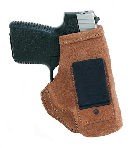 Galco Stow-N-Go Inside The Pant Right Hand Holster for S&W M&P Shield with Lasermax Centerfire, Natural by Galco