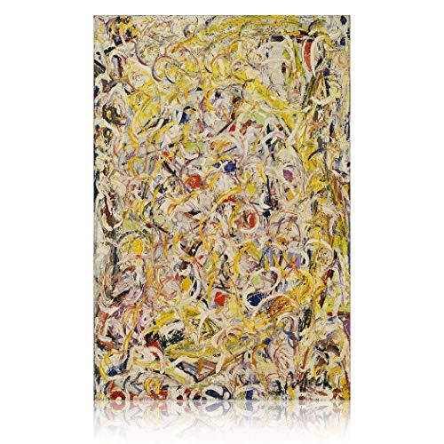 SpringFlower Wandaufkleber Jackson Pollock Premium Kunstdruck Dekoration Poster Design Modernes Wandbild Produkt Für Wohnzimmer, Schlafzimmer, Büro Wandkunst Klebstoff (B Style)