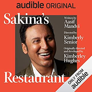 Sakina's Restaurant                   By:                                                                                                                                 Aasif Mandvi                               Narrated by:                                                                                                                                 Aasif Mandvi                      Length: 1 hr and 17 mins     3,490 ratings     Overall 3.2