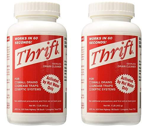 Thrift T-100 Alkaline Based 1-Pound Granular Drain Cleaner (2-(Pack))