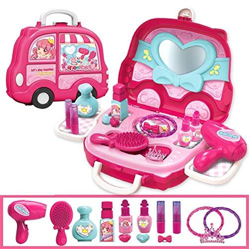 Absir Kinder niedlichen Cartoon Spielhaus Koffer Form Spielzeug Set Makeup-Auto