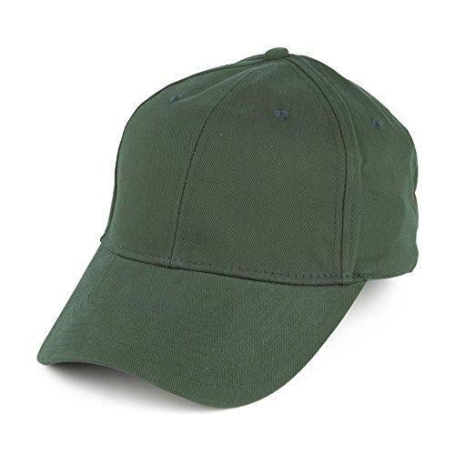 Village Hats Casquette en Coton Brossé Vert - Ajustable