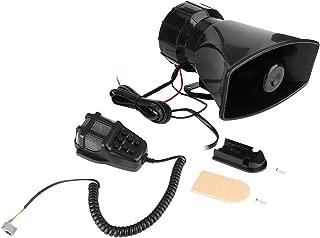 Hlyjoon 7 Tone Car Motorcycle Alarm Horn Siren Remote Control Super Loud 120db Sound Speaker 12V 100W Warning Loudspeaker Universal
