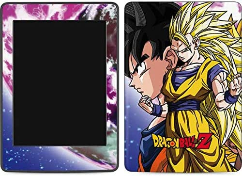 Skinit Decal Tablet Skin Compatible with Kindle Paperwhite E-Reader 6in - Officially Licensed Dragon Ball Z Dragon Ball Z Goku Forms Design