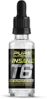 PURE NUTRITION T6 INSANE FAT BURNER SERUM – FAT BURNING LOSE WEIGHT, GET IN SHAPE GET TONED EXTREME FAT BURNING SERUM