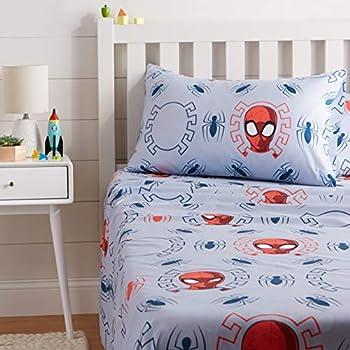 Amazon Basics by Marvel Spiderman Spidey Crawl Bed Sheet Set Twin