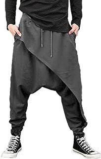 Uomini Casual Drappo Goccia Cavallo Harem Hip-hop Pantaloni Pantaloni Baggy Danza Pantaloni Gotico Punk Stile Harem Pantal...