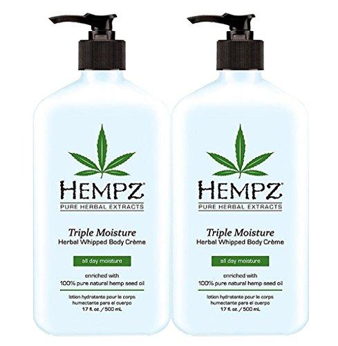 Price comparison product image 2 BOTTLES OF Hempz Herbal Moisturizer Triple Moisture 17 oz NEW 2014